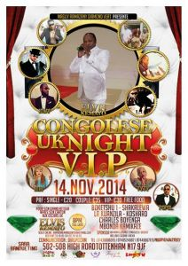 CONGOLESE UK NIGHT VIP
