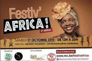 FESTIV AFRICA 2ième Edition  Samedi 17 Octobre 2015
