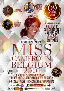 MISS CAMEROUN BELGIUM 2016